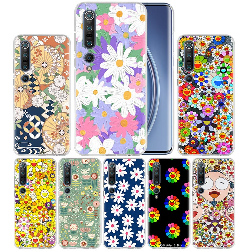 Sun Flower Daisy Case For Xiaomi Mi Note 10 Pro 9T 9 CC9 A3 A2 8 Lite 6X 10Youth 5G Poco X2 F1 F2pro Hard Coque Fall