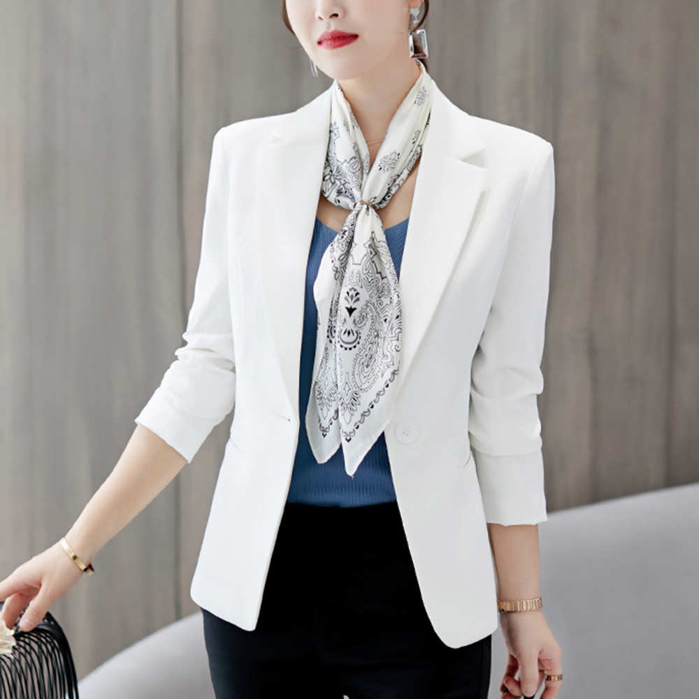 Puimentiua Clssical Blazer Women Casual Solid Suit Coat 2019 New Business Style Jacket 2019 V-Neck Jacket Trendy Blazer Mujer
