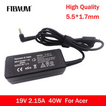 FTEWUM AC 40W Adapter 19V 2.1A 5.5*1.7mm Notebook Laptop Charger For Acer Aspire D270 D257 D255 For Laptop Adapter Power Supply