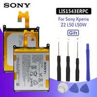 Batería de teléfono Original SONY para Sony Xperia Z2 L50T D6502 D6503 L50 L50W L50U LIS1543ERPC 3200mAh baterías de repuesto + herramientas