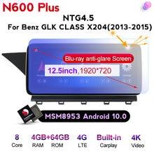 Qualcomm Android 10 Auto-radio-player Für Benz GLK Klasse X204 2008-2012 NTG 4,0 4,5 mit gps-navigation HD 1920*720 IPS bildschirm