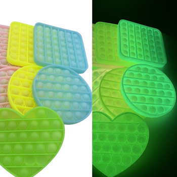 Blask fluorescencja Push Bubble zabawki typu Fidget dorosła zabawka antystresowa antystresowa miękka gniotka prezent antystresowy pudełko proste dołek zabawka tanie i dobre opinie CN (pochodzenie) 4-6y 7-12y 12 + y Glow Fluorescence Fidget Toy Certyfikat europejski (CE) Zwierzęta i Natura Zawody