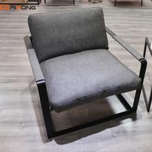 Античный стиль Гостиная Кабинет офис дома серый цвет одно сиденье диван кресло диване стул