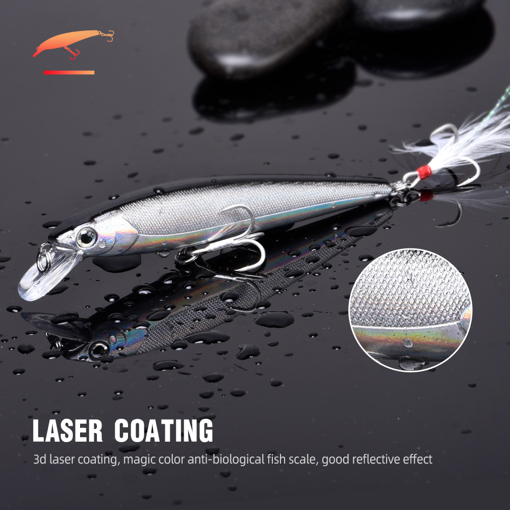 10cm 11g Minnow Wobbler Fishing Lure for Pike 2