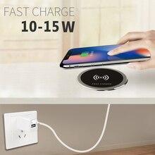 5W 10W 15W ในตัวเดสก์ท็อป Qi Wireless Charger อุปกรณ์สำหรับ iPhone แผ่นชาร์จแบบพกพา Power Charger MAT ชาร์จมือถือ