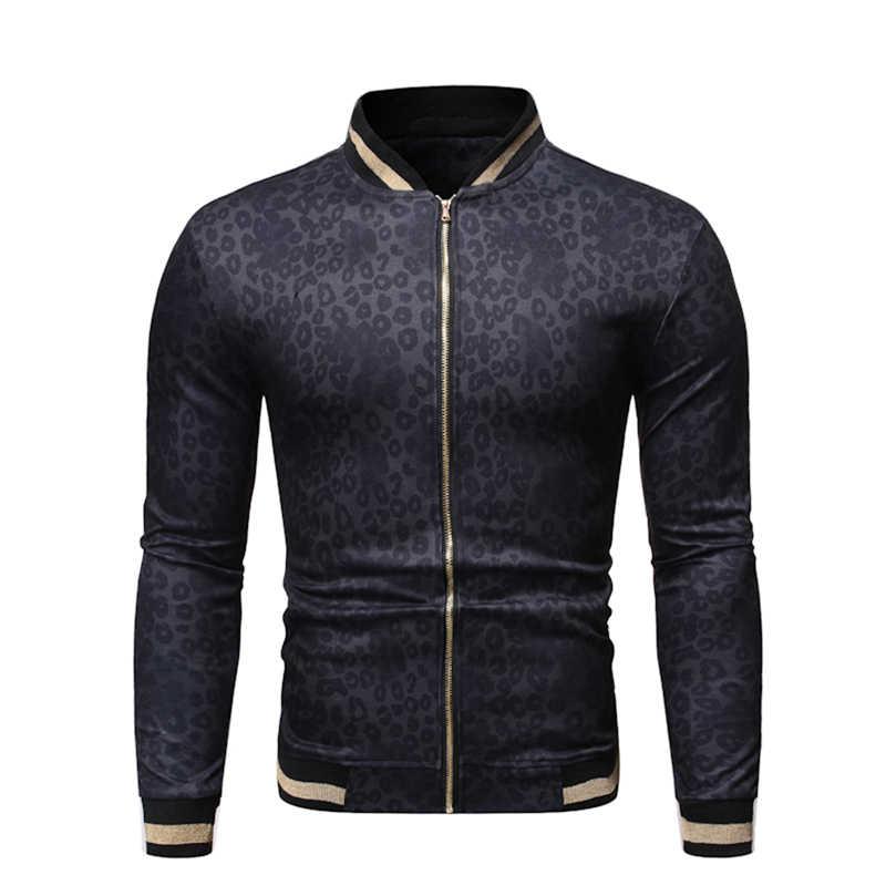 Мужская куртка-бомбер на молнии, мужская верхняя одежда с принтом, Повседневная Уличная одежда, приталенное пальто, Мужская одежда, спортивная куртка для мужчин, пальто