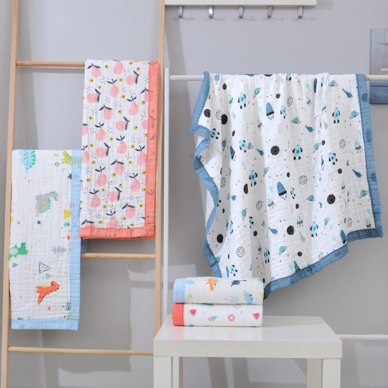 150X200cm Super Soft XXL Big Size Cotton Muslin Blanket Newborn Swaddle Baby Cart Blanket Kids Bath Towel Baby Receiving Blanket