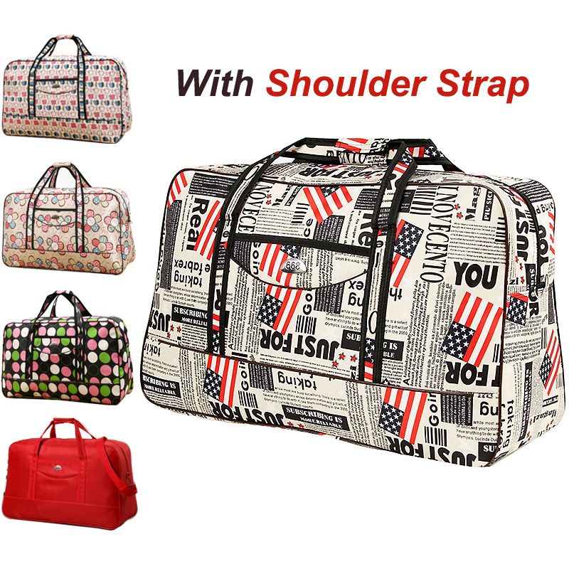 Women Travel Bag Organizer With Shoulder Strap Carry On Luggage Travel Bags Large Hand Luggage Oxford Weekend Duffle Garment Bag