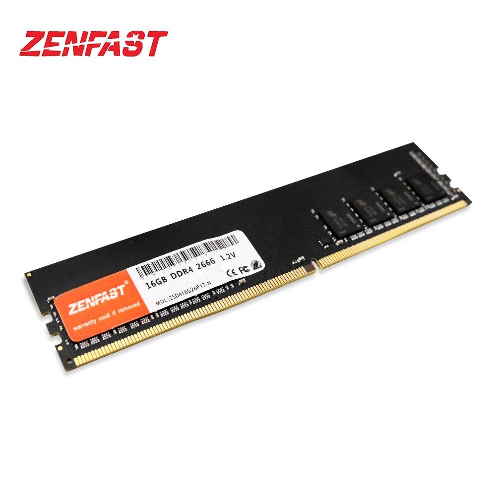 ZENFAST DDR3 DDR4 4GB GB GB 32 16 8GB memoria ram 1333 1600 2133 2400 2666 Área De Trabalho De Memória Dimm DDR4 1.2V 288PIN DDR3 1.5V 240PIN