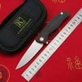 2019 KANEDEIIA F3 folding knife D2 blade linen Micarta+Titanium handle utility camping hunting pocket kitchen knives EDC too