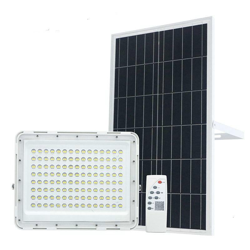 Ha condotto la Luce Solare Luce di Inondazione 60W 120W 200W Solare Floodllight Esterna Impermeabile di Sicurezza del Sensore di Luce con Telecomando di controllo