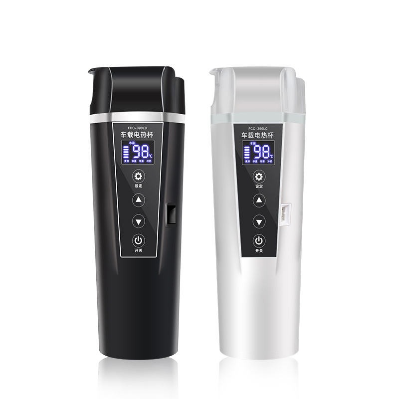 12 V/24 V voiture bouilloire voyage Portable chauffe-eau Camping électrique bouilloire chauffage tasse Auto accessoire électrique tasse noir/blanc