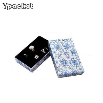 Portable Rings Storage Box Rectangle Display Stand Metal Earrings Storage Box Storage Box Jewelry Display Cabinet