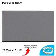 Yüksek parlaklık projeksiyon perdesi 3.2m x 1.6m yansıtıcı kumaş bez projeksiyon perdesi