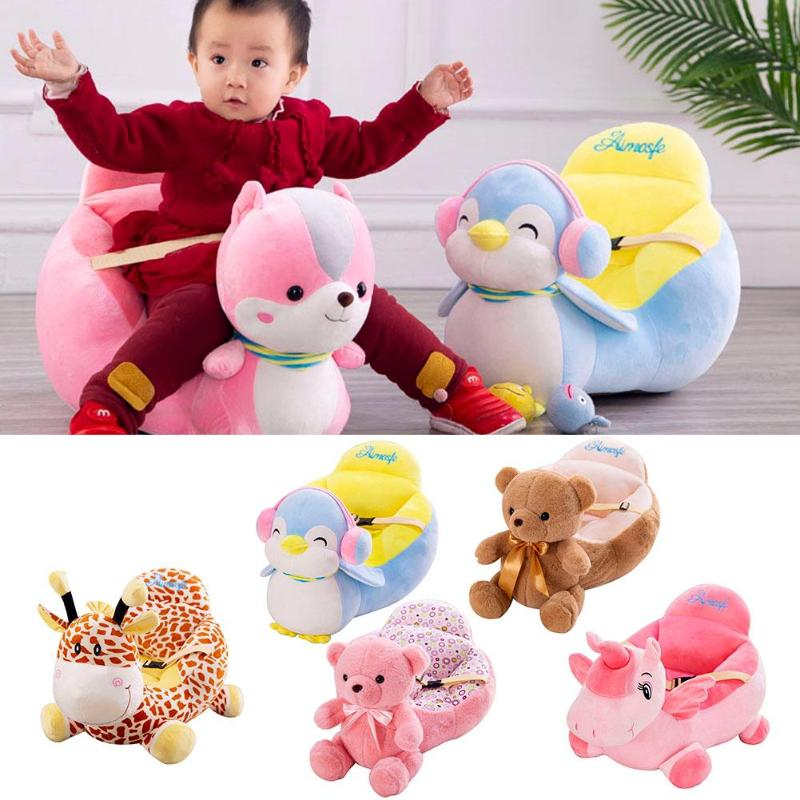 Colorful Infant Baby Sofa Cover Sofa Support Seat Learn To Sit Feeding Chair Baby Soft Seat Case Travel Car Seat For 0-12 Months