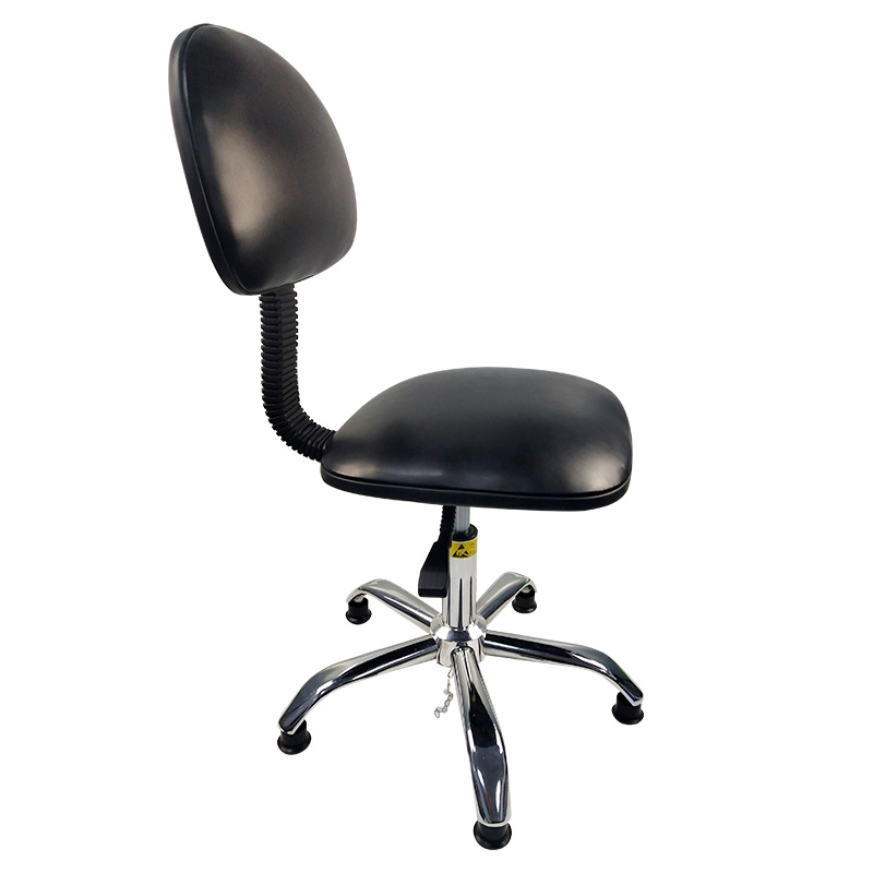 Antistatic Chair Laboratory Dedicated Assembly Line Lift Chair Dustless Workshop Work Chair Leather Back Work Chair