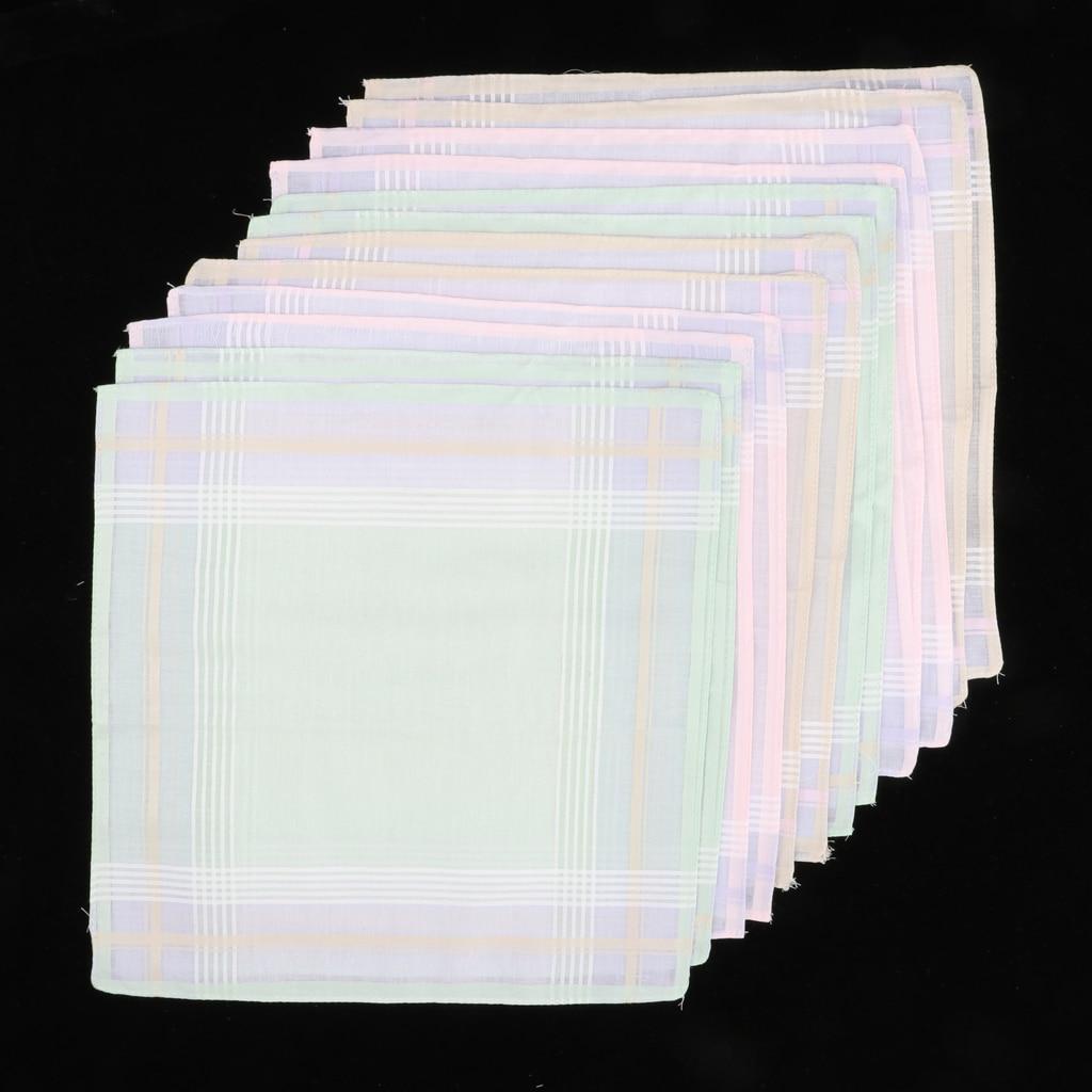 Cloth Handkerchief Set, 12pcs 100% Cotton (30 X 30 Cm) Cloth