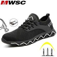 Защитные рабочие ботинки MWSC для мужчин, новый дизайн 2019, рабочие ботинки с неразрушаемым стальным носком, Мужская Строительная защитная обу...