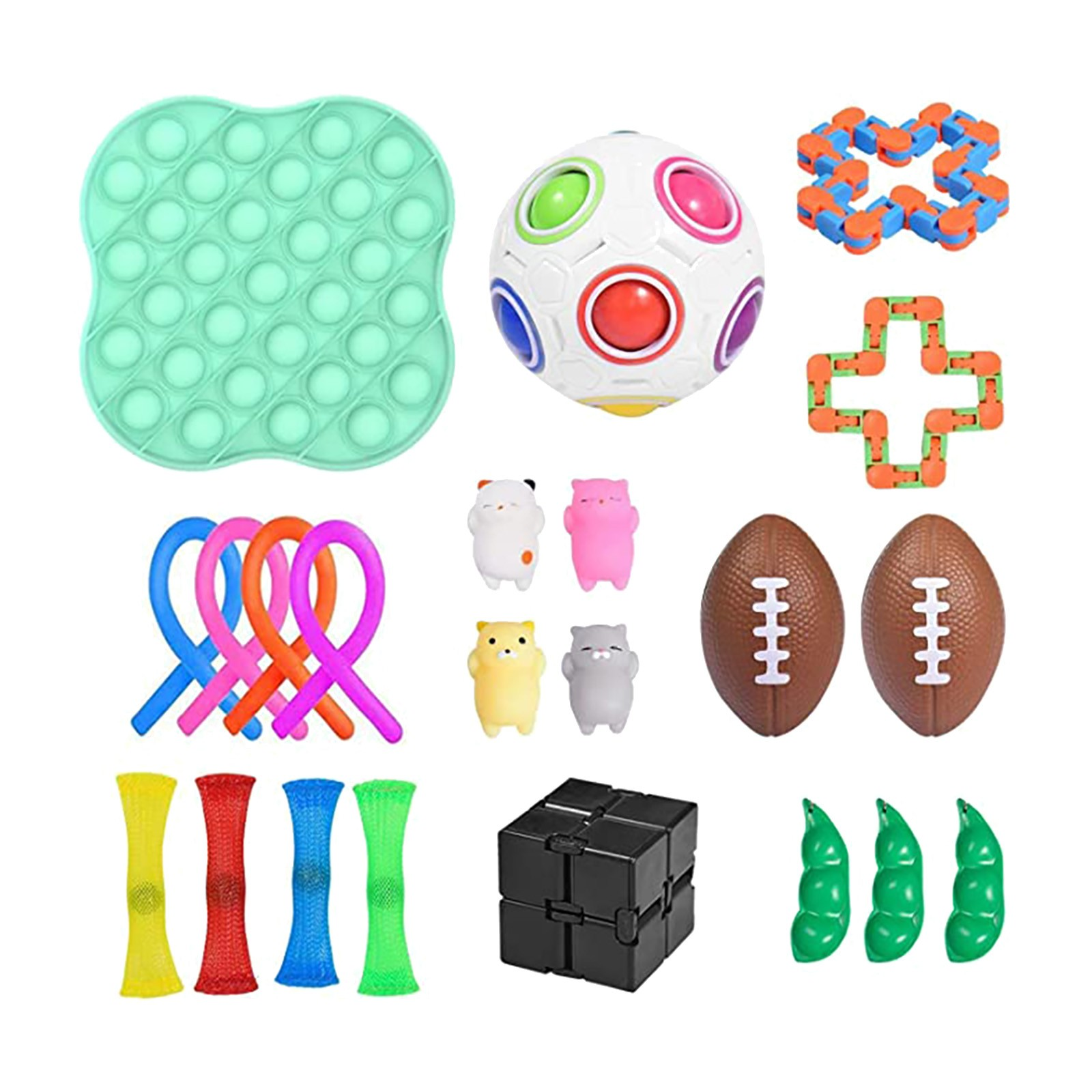 PopIt Round Push Bubble Fidget Toys Adult Stress Relief Toy Anti-stress PopIt Soft Squishy Anti-Stress Gift Anti-Stress Poppit img4