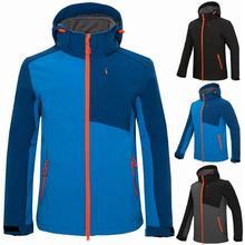 Men's Winter Inner Fleece Waterproof Softshell Jacket Outdoor Sport Warm Coat Hiking Camping Trekking Skiing Waterproof Jackets