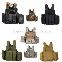 TOtrait Tactical Hunting Vest Combat Assault Plate Carrier Tactical Vest 7 Colors CS Outdoor Clothing Hunting Vest multifunctional clothing stab stab tactical vest cs field outdoor photography vest fishing