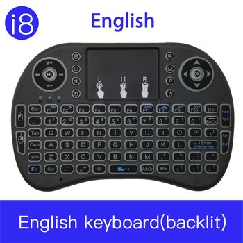 i8 Backlight Mini Wireless Keyboard 2.4GHz with Touchpad Keyboard Mouse for Raspberry Pi 3 RPI 2 Mini PC Smart TV Android TV Box dishykooker wireless keyboard mini 2 4ghz wireless mini keyboard with touchpad for pc android smart tv box ky