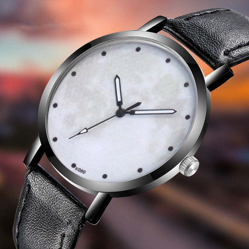 World Map Shadow Men Watch Classy Unique Creative Space Watch Casual Quartz Leather Strap Analog Wirst Watches Montre Femme in Quartz Watches from Watches