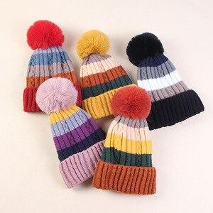 Image 3 - Winter Hüte für Frauen Hüte Kintted Mützen Frauen Hüte Warme Mützen Winter Hut Weibliche Caps Damen Warme Kintted Skullies herbst