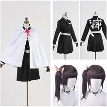 Anime Kimetsu No Yaiba przebranie na karnawał s Kanao Tsuyuri przebranie na karnawał mundury impreza z okazji Halloween ostrze demona przebranie na karnawał tanie tanio Cosfans WOMEN Zestawy Spódnice Płaszcz Movie TV Polyester QQ278 Kostiumy Kanao Tsuyuri cosplay Cloak top skirt belt accessories headdress wig