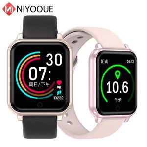 Image 1 - B58 الساعات الذكية مقاوم للماء الرياضة B57 زائد آيفون أبل الهاتف Smartwatch رصد معدل ضربات القلب ضغط الدم للنساء الرجال