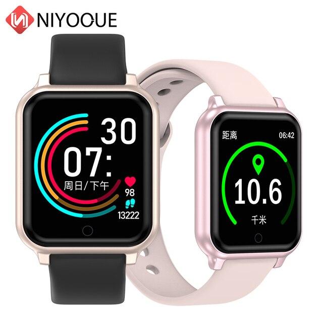 B58 الساعات الذكية مقاوم للماء الرياضة B57 زائد آيفون أبل الهاتف Smartwatch رصد معدل ضربات القلب ضغط الدم للنساء الرجال