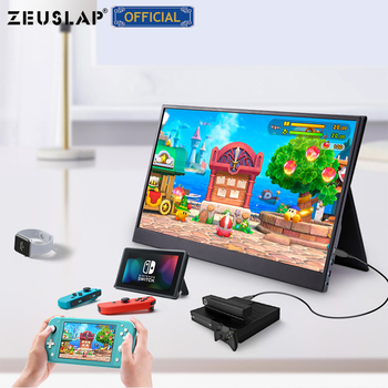 ZEUSLAP 15.6inch USB C HDMI-Compatible 1920*1080P PD HDR Monitor with Earphone port Ultrathin Portable Screen Gaming Monitor 5