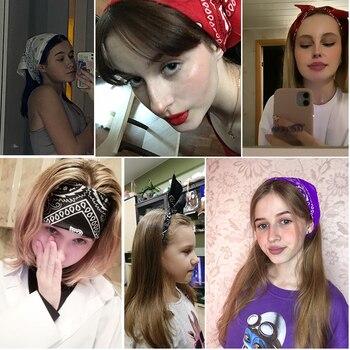 New Headbands Unisex Cotton Bandana Head Scarf Headwraps for Women Designer Headwear Double Sided Head Wrap Men Masks Face Scarf