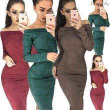 Goocheer New Sexy Womens Ladies Off Shoulder Bodycon Evening Party Cocktail Long Midi Dress