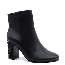 Elegance Female's fashion heel shoes High square heel Ankle Classic Boots With pointed Toe beauty shape zipper style solid boots