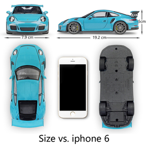 Image 2 - مقياس ويلي 1:24 محاكي سيارة بورش 911 GT3 RS نموذج سيارة رياضية سبيكة معدنية لعبة سباق السيارات لعبة للأطفال هدية
