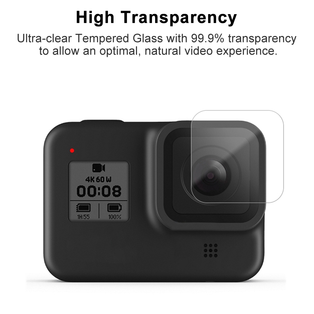 Tempered Glass Screen Protector for GoPro Hero 8 Black Lens Protection Protective Film for Gopro8 Go pro 8 Camera Accessories 4