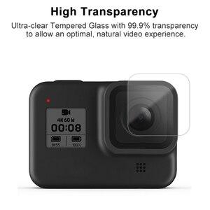 Image 4 - الزجاج المقسى واقي للشاشة ل GoPro بطل 8 الأسود عدسة حماية طبقة رقيقة واقية ل Gopro8 الذهاب برو 8 كاميرا الملحقات