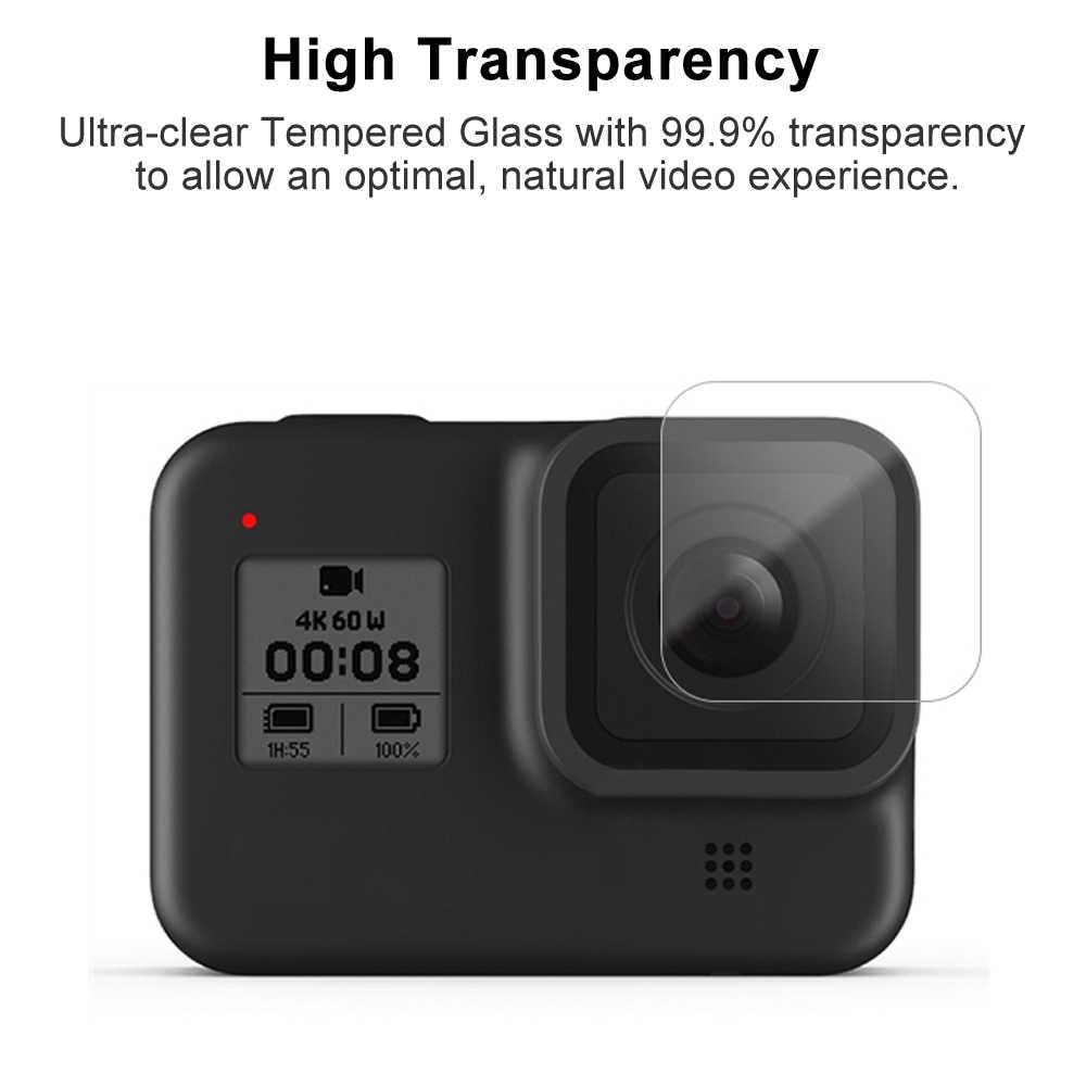 Temperato Protezione Dello Schermo di Vetro per Gopro Hero 8 Lente Del Nero di Protezione Pellicola Protettiva per Gopro8 Go Pro 8 Accessori Della Fotocamera