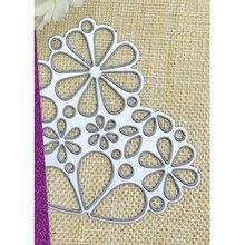 Цветок цветочный Любовь Сердце Декор карты Металл вырубка штампы высечки резчик Трафарет DIY скрапбук бумага фото ремесленный шаблон штампы