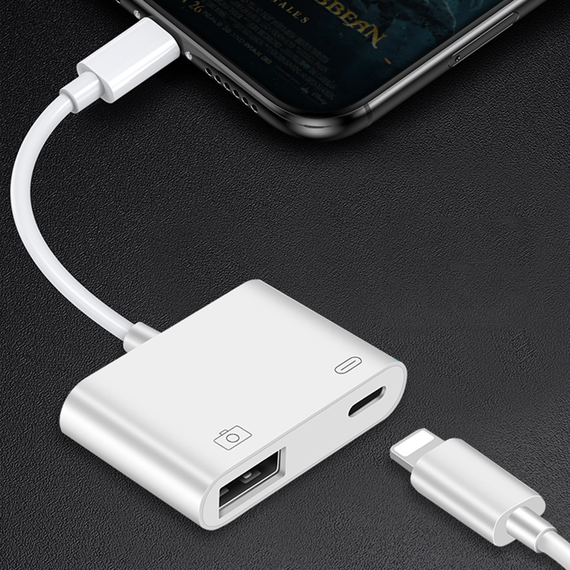 OTG Cable USB Adapter For IPhone IPad Lightning To USB 3.0 Adapter Camera U-Disk Flash Drive Mouse Keyboard Converter Connector