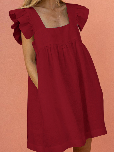 Фото женское короткое платье с квадратным вырезом вечернее вечерние