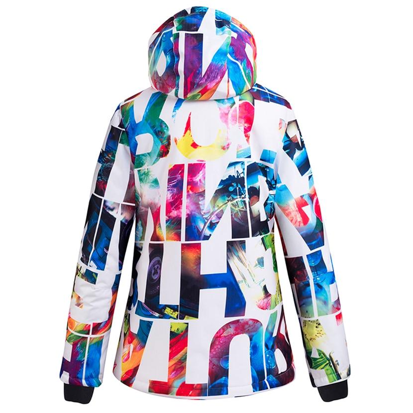 Women Thickened Warm Ski Snowboard Suit Waterproof Pants+Jacket Set