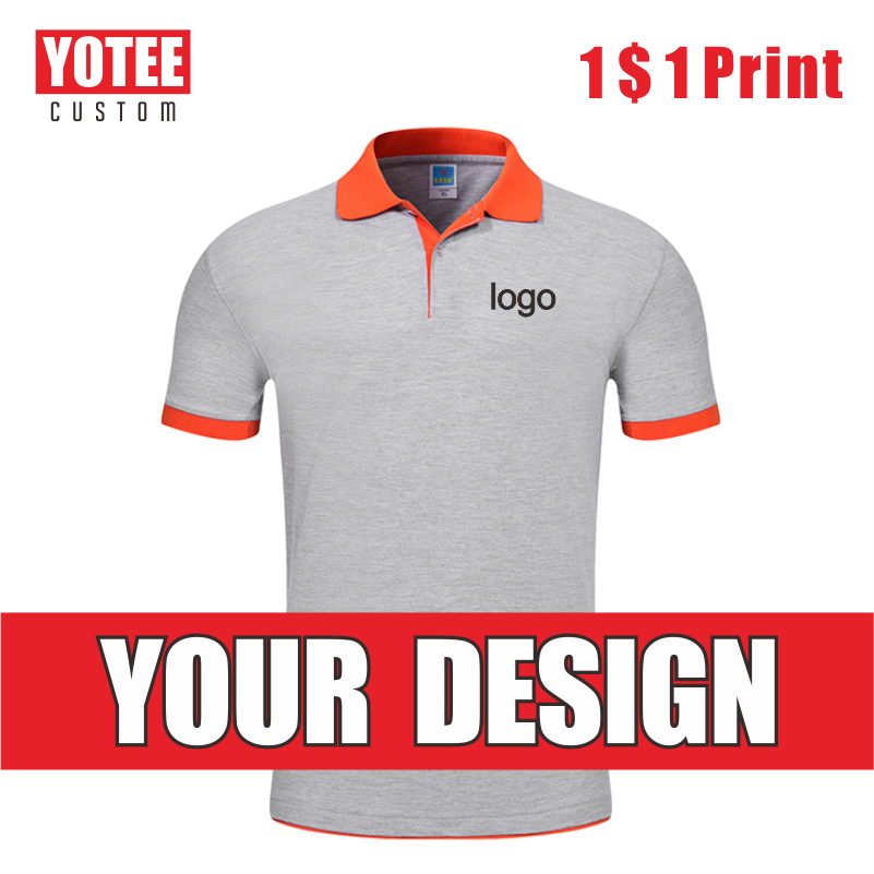 YOTEE2020 new embroidered cotton short-sleeved polo shirt company group customization cheap men and women POLO short-sleeved