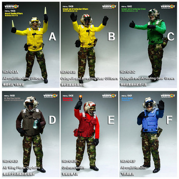 1/6 Scale VH 1043 Man Maritime Mobile Airport Ground Service Clothes Male Boy For 12 Full Set Action Figure Body Doll Toys image