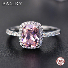 цены 2019 New Fine Natural Ruby Ring 925 Sterling Silver Rings Engagement Gemstone Ring Silver Pink Quartz Ring For Women Jewelry