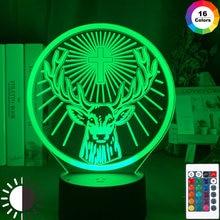 Светодиодный ночник светильник jagermeister 16 цветов меняющий
