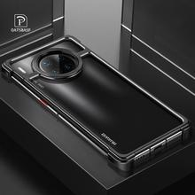 OATSBASF  New Metal Frame Phone Case For Huawei mate  30  30 pro  Magnetic Attraction Bare Machine Feel Drop proof Phone Cover
