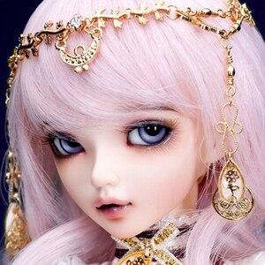 Free Shipping Minifee Celine BJD Dolls 1/4 Fashion Flexible Resin Figure Female Fairies Fullset Toy For Children Fairyland(China)