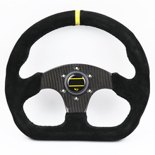 Steering-Wheel Drift Real-Carbon-Fiber 13inch Sport D-Style Suede